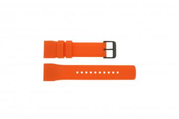 Pulseira de relógio Pulsar W861-X006 / PQ2013X1 / PP102X Borracha Laranja 24mm