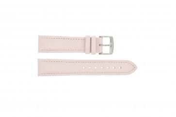 Bracelete em pele genuína cor-de-rosa 22mm 283