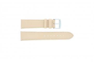 Bracelete em pele genuína crème / bege 24 mm 283