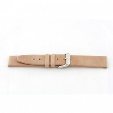 Bracelete em pele genuína em bege 22mm G33