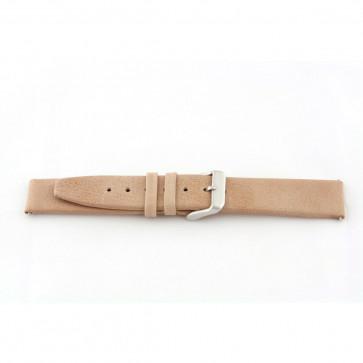 Bracelete em pele genuína em bege 24mm G33