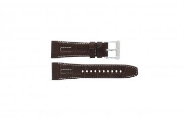 Seiko pulseira de relogio 5D44-0AE0 / SRH011P1 Couro Marrom 26mm + costura branca