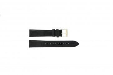 Seiko pulseira de relógio 7N32-0DE0 Couro Preto 18mm