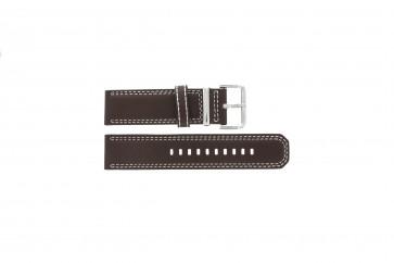 Pulseira de relógio Seiko 7T62-0HM0 / SNAB71P1 / 4LP6JB Couro Marrom 24mm