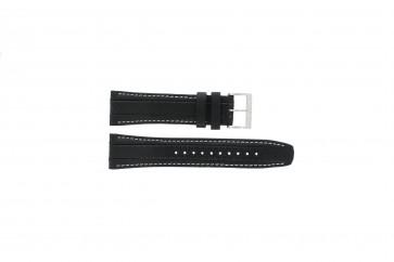 Pulseira de relógio Seiko 7T62-0HL0 / SNAB55P1 / 4LR4JB Couro Preto 24mm