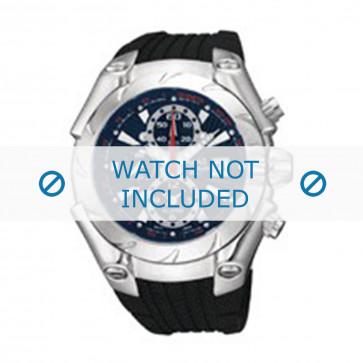 Seiko pulseira de relogio YM62-X159 Borracha / plástico Preto