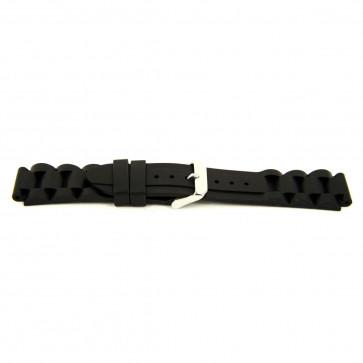 Other brand pulseira de relogio SL101 Silicone Preto 22mm