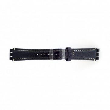 Bracelete em pele genuína para Swatch azul crododilo 19mm ES- 2.05