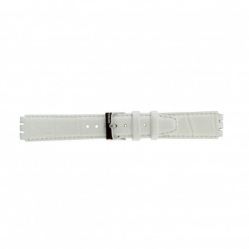 Pulseira de relógio Swatch 21414.11 Couro Branco 17mm