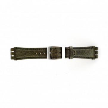 Pulseira de relógio Swatch SC14.11 Couro Verde 19mm