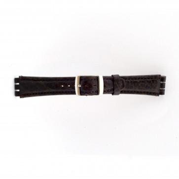 Pulseira de relógio Swatch (alt.) 21412.27 Couro Marrom 19mm