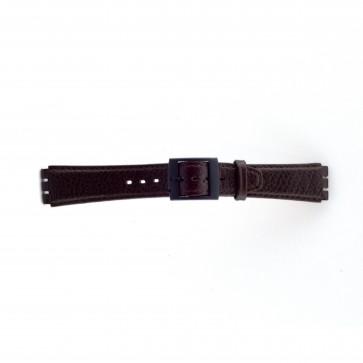 Pulseira de relógio Swatch SC04.02 Couro Marrom 17mm