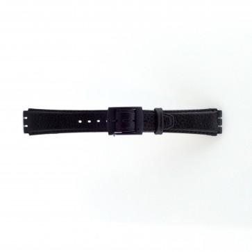 Bracelete para Swatch preta 17mm PVK-SC04.01