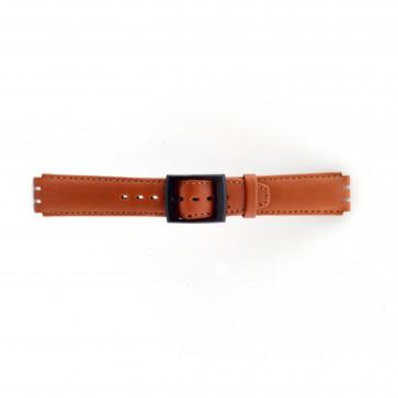 Pulseira de relógio Swatch SC11.03 Couro Marrom 17mm