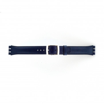 Bracelete para Swatch azul marinho 19mm