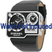 Pulseira de relógio Diesel DZ7101 Couro Preto 39mm