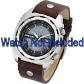 Pulseira de relógio Diesel DZ1197 Couro Marrom 26mm