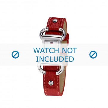 Tommy Hilfiger pulseira de relogio TH-09-3-14-0613 / TH679300818 / TH1780621 Couro Vermelho + costura vermelha