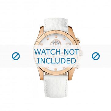 Tommy Hilfiger pulseira de relogio TH-03-3-34-0860 / TH679301123 / TH1780930 Couro Branco 22mm + costura branca