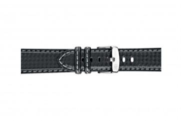 Morellato pulseira de relogio Biking U3586977891CR22 / PMU891BIKING22 Carbono Preto 22mm + costura cinza