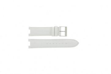 Guess pulseira de relogio W11008L1 Couro Branco 21mm + costura padrão