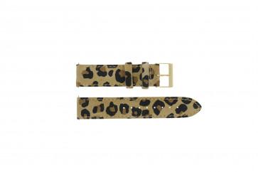 Guess pulseira de relogio W16574L1 Couro Leopardo 20mm