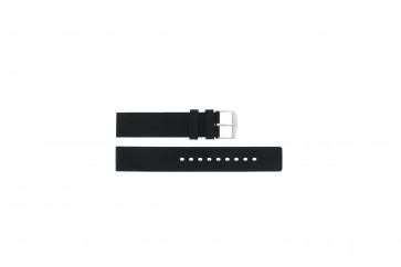 Pulseira de relógio Universal 21901.10.18 / 6826 Silicone Preto 18mm