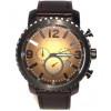 Pulseira de relógio Fossil BQ2080 Couro Preto 24mm