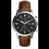 Pulseira de relógio Fossil FS5394SET Couro Marrom 22mm