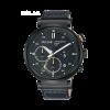 Pulseira de relógio Pulsar PZ5071X1 / VR42-X008 / PPG045X Couro Preto 20mm