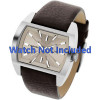 Pulseira de relógio Diesel DZ1113 Couro Marrom 29mm