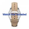 Pulseira de relógio Fossil ES2997 Couro Bege 18mm