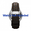 Pulseira de relógio Fossil FS4737 Couro Marrom 22mm