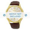 Pulseira de relógio Seiko 7N42-0GG0 / SGEH56P1 Couro croco Marrom 21mm