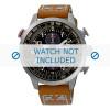 Pulseira de relógio Seiko V176-0AG0 / SSC421P1 / L0F8011J0 Couro Conhaque 20mm