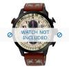 Pulseira de relógio Seiko SSC425P1 / V176 0AG0 Couro Marrom 20mm