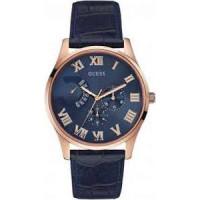 Pulseira de relógio Guess W0608G2 Couro Azul 22mm