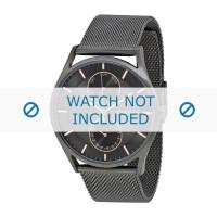 Pulseira de relógio Skagen SKW6180 Milanesa Cinza antracite 22mm