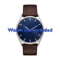 Pulseira de relógio Skagen SKW6237 Couro Marrom 22mm