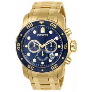 Pulseira de relógio Invicta 0073 / 0072 / 0074 / 0075 / 80064 / 80065 / 80068 / 80069 Aço Banhado a ouro 19mm