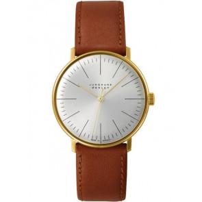 Pulseira de relógio Junghans 027/5703.00 Couro Castanho claro