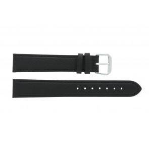 Bracelete em pele genuína preto 14mm PVK-054xl