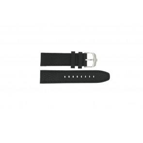 Swiss Military Hanowa pulseira de relogio 06-4224.04.007 Couro Preto 22mm + costura preto
