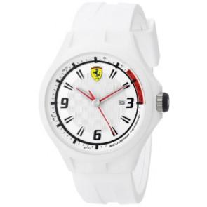Ferrari pulseira de relogio SF101.1 / 0830003 / SF689309000 / Scuderia Borracha Branco 22mm