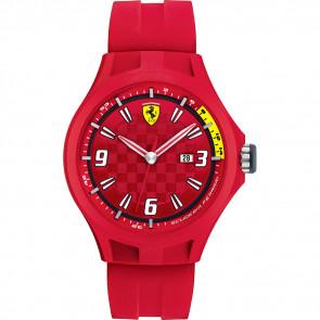 Pulseira de relógio Ferrari 0830007 / SF689300005 Borracha Vermelho 22mm