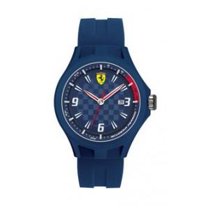 Pulseira de relógio Ferrari SF101.4 / 0830067 / SF689300097 Borracha Azul 22mm