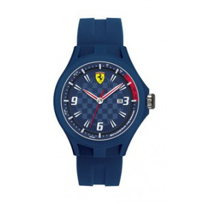 5f396addc5b Pulseira de relógio Ferrari SF101.4   0830067   SF689300097 Borracha Azul  22mm