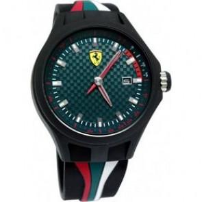 Ferrari pulseira de relogio SF101.5 / 0830070 / SF689300050 Borracha Preto 22mm