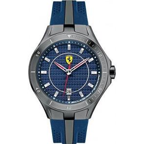 Ferrari pulseira de relogio SF103.7 / 0830081 / SF689300057 / Scuderia Borracha Azul 22mm
