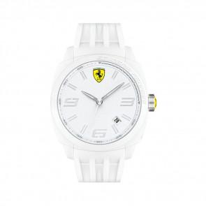 Ferrari pulseira de relogio SF113.1 / 0830113 / SF689300066 / Scuderia Borracha Branco 24mm